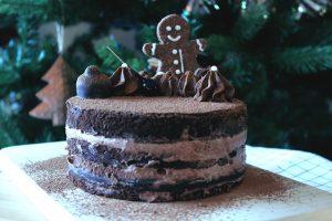 Gâteau de noël chocolat et beurre de cacahuète